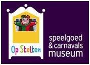 """organisatie logo Speelgoed- en Carnavalsmuseum """"Op Stelten"""""""