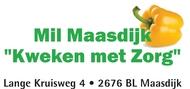 """Logo van stichting Mil Maasdijk """"Kweken met Zorg"""""""