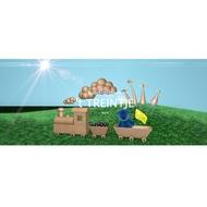 organisatie logo Stichting Kind & Spel, speelotheek 't TREINTJE